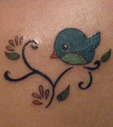 Nerdy Birdy Tattoo